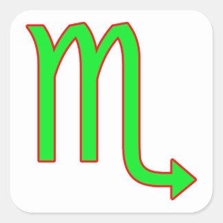 Scorpio Zodiac Sign Square Sticker