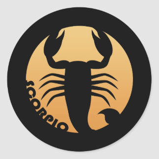 Scorpio Zodiac Sign Classic Round Sticker