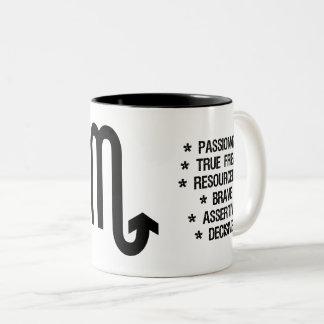 "Scorpio Zodiac Sign (""the stinger"") Two-Tone Coffee Mug"