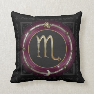 Scorpio Zodiac Sign Throw Pillow