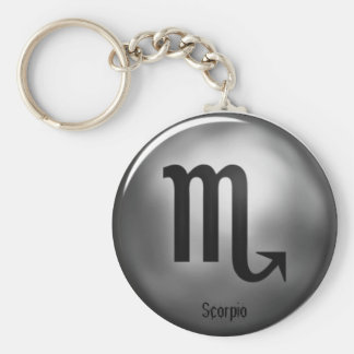Scorpio Zodiac Silver Color Keychain