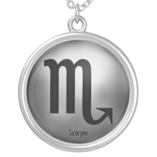 Scorpio Zodiac Silver Plated Necklace