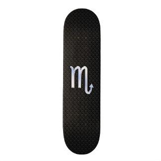 Scorpio Zodiac Silver Sign black snake skin Skateboard Deck