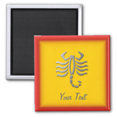 Scorpio Zodiac Star Sign In Light Silver Magnet at Zazzle