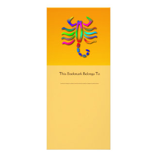 Scorpio Zodiac Star Sign Rainbow Orange Bookmark Rack Card