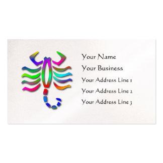 Scorpio Zodiac Star Sign Rainbow Pearl Business Card