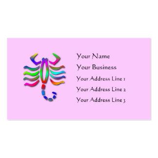Scorpio Zodiac Star Sign Rainbow Standard Business Card Templates