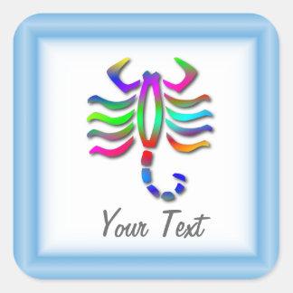 Scorpio Zodiac Star Sign Rainbow Square Sticker