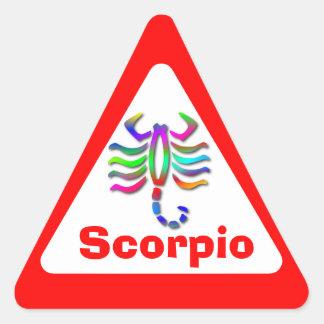 Scorpio Zodiac Star Sign Rainbow Triangle Sticker