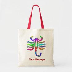 Scorpio Zodiac Star Sign Rainbow Tote Bag at Zazzle