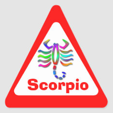 Scorpio Zodiac Star Sign Rainbow Triangle Sticker at Zazzle