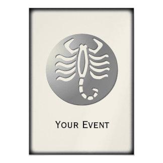Scorpio Zodiac Star Sign Silver Premium 5x7 Paper Invitation Card