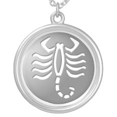 Scorpio Zodiac Star Sign Silver Premium Silver Plated Necklace at Zazzle