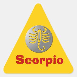 Scorpio Zodiac Star Sign Silver Premium Triangle Sticker