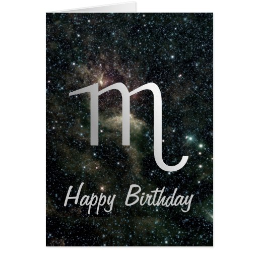 Scorpio Zodiac Star Sign Universe Birthday Card