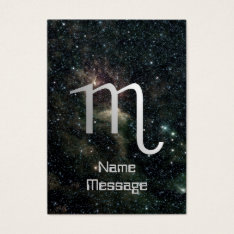 Scorpio Zodiac Star Sign Universe Business Card at Zazzle