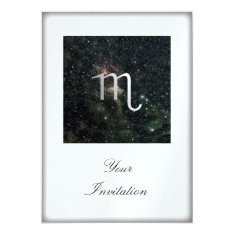 Scorpio Zodiac Star Sign Universe Party Event Card at Zazzle