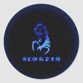 Scorpio Zodiac Symbol Classic Round Sticker