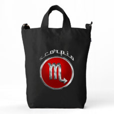 Scorpio Zodiac Symbol Duck Bag