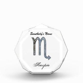 Scorpio Zodiac Symbol Element Acrylic Award