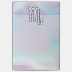 Scorpio Zodiac Symbol in Mother of Pearl Decor Post-it® Notes at Zazzle