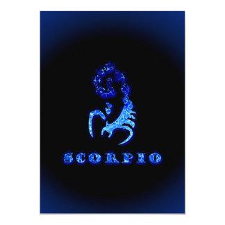 Scorpio Zodiac Symbol Invitations
