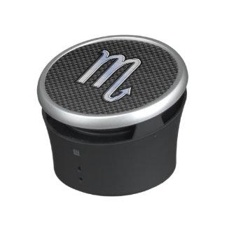 Scorpio Zodiac Symbol on Carbon Fiber Print Bluetooth Speaker