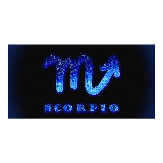 Scorpio Zodiac Symbol Photo Card