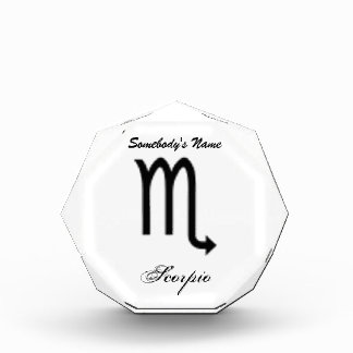 Scorpio Zodiac Symbol Standard Acrylic Award