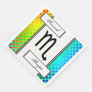 Scorpio Zodiac Symbol Standard by Kenneth Yoncich Paper Dinner Napkin