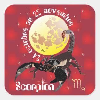 Scorpion 24 22 Autocollant octobre au novembre Pegatina Cuadrada