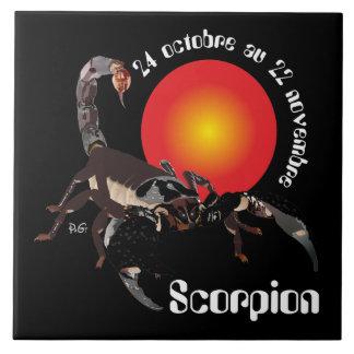 Scorpion 24 22 Carreaux octobre au novembre Azulejo Cuadrado Grande