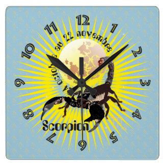 Scorpion 24 22 Horloge octobre au novembre Reloj Cuadrado