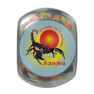 Scorpion 24 oct. outer 22 Nov. Boites à drops Glass Candy Jar