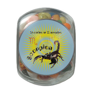 Scorpion 24 oct. outer 22 Nov. Boites à drops Glass Candy Jars