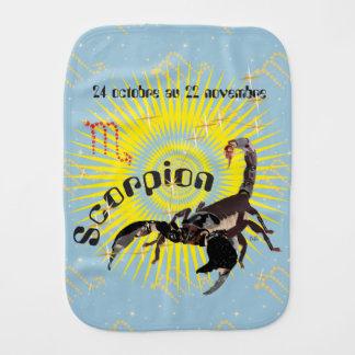 Scorpion 24 octobre outer 22 novembre Bavoir à red Baby Burp Cloths