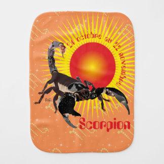 Scorpion 24 octobre outer 22 novembre Bavoir à red Baby Burp Cloth