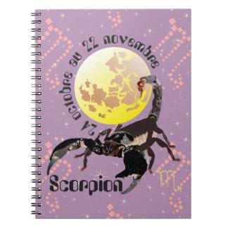 Scorpion 24 octobre outer 22 novembre Carnet Notebook