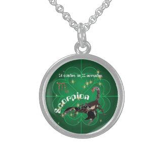 Scorpion 24 octobre outer 22 novembre collier sterling silver necklace