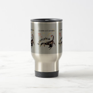 Scorpion 24 octobre outer 22 novembre cup 15 oz stainless steel travel mug