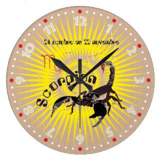 Scorpion 24 octobre outer 22 novembre Horloge Large Clock