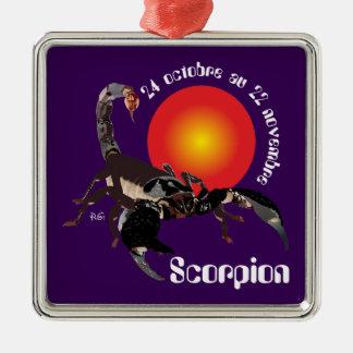 Scorpion 24 octobre outer 22 novembre metal ornament
