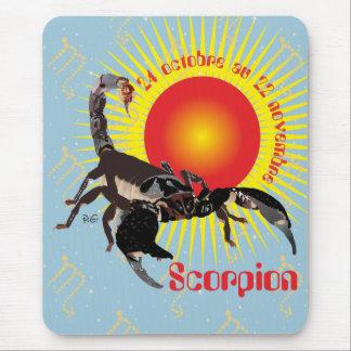 Scorpion 24 octobre outer 22 novembre Tapi de Mouse Pad