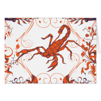 Scorpion 2 ~ Scorpions Scorpio Insect Insects Card