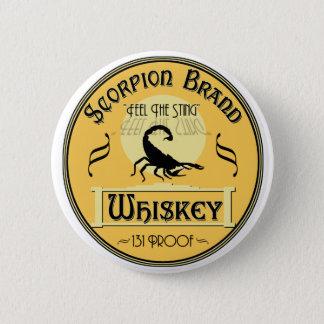 Scorpion Brand Whiskey Button