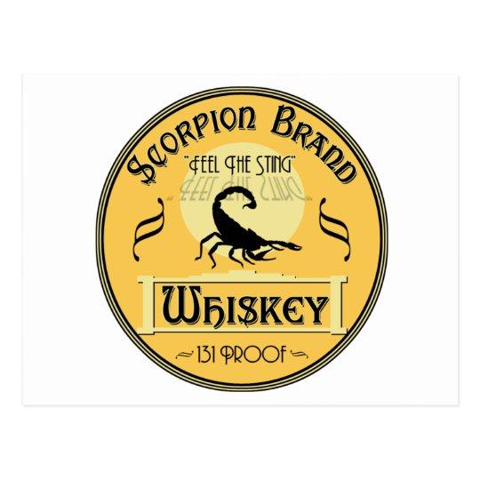 Scorpion Brand Whiskey Postcard