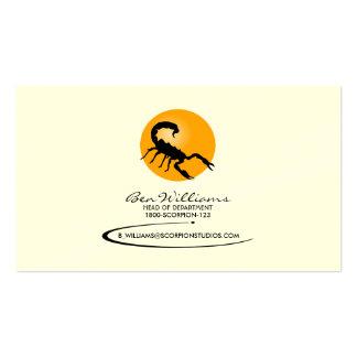 Scorpion Business Card (W/ Sun Backdrop)