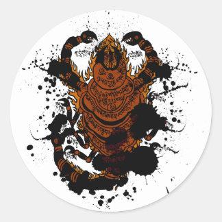 Scorpion charm classic round sticker