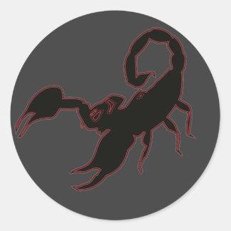 Scorpion Classic Round Sticker