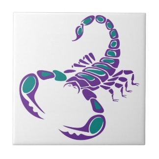 Scorpion Image Purple Teal Blue bug desert Ceramic Tile